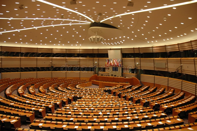 europeisk parlament fotografering för bildbyråer