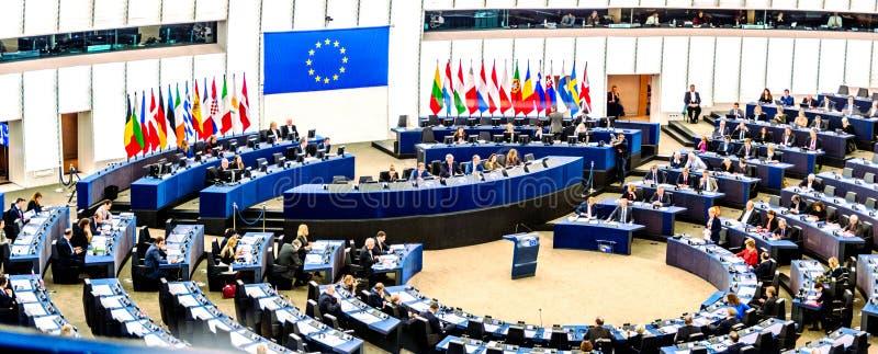 europeisk parlament strasbourg royaltyfri fotografi