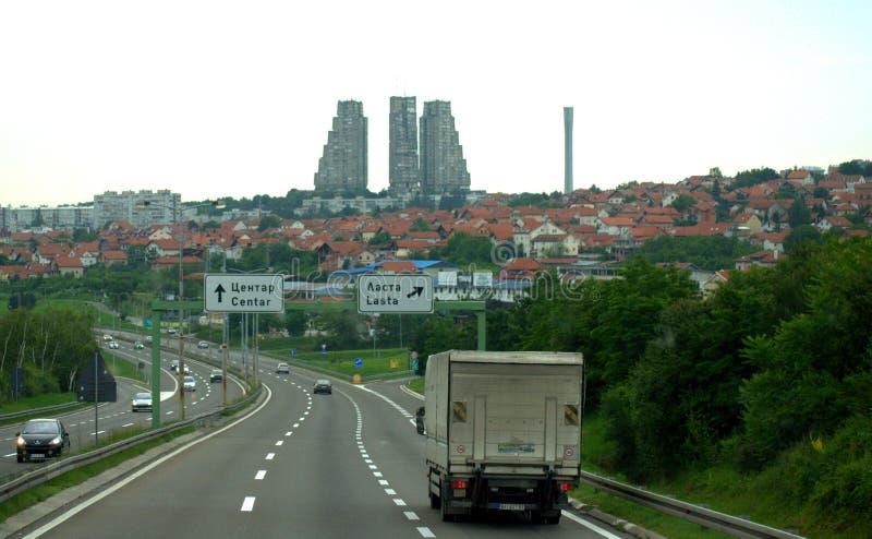 Europeisk rutt Belgrade Serbien för E 75 arkivbilder