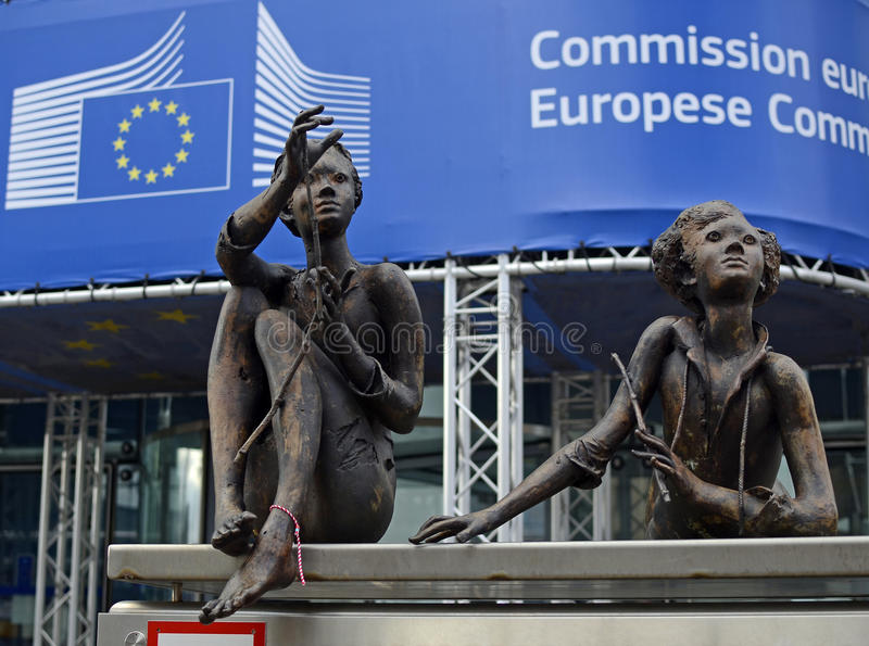 Europeisk union - Europeiska kommissionen royaltyfri foto