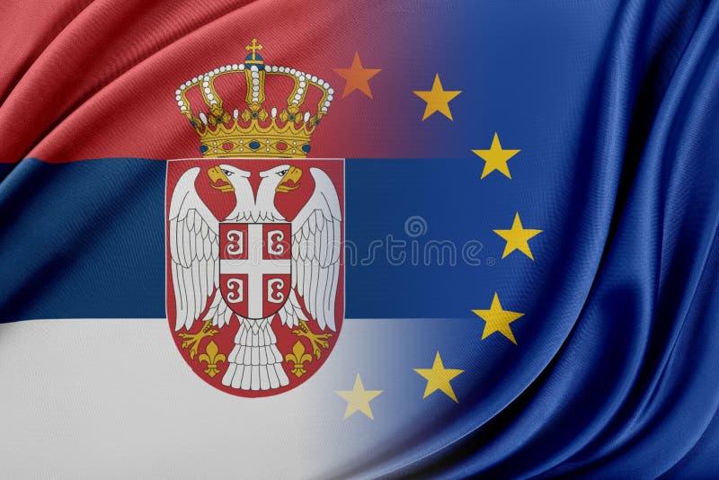 Europeisk union och Indien Begreppet av förhållandet mellan EU och Indien royaltyfri illustrationer