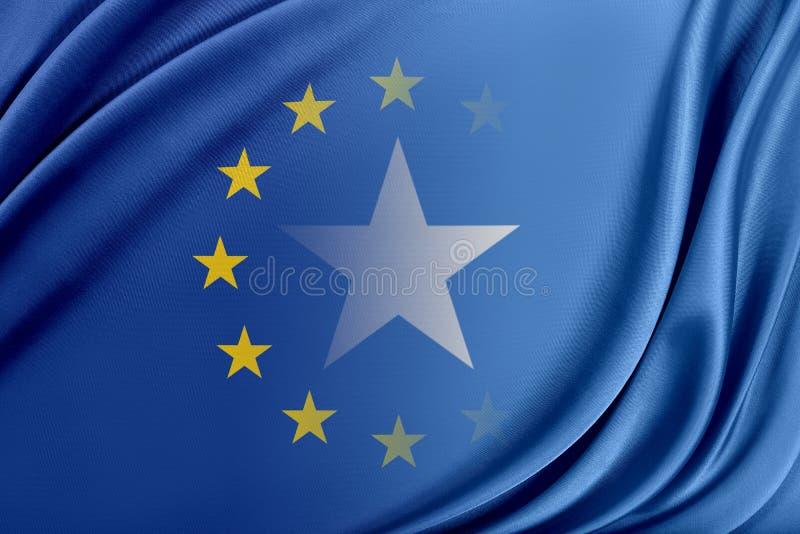 Europeisk union och Somalia Begreppet av förhållandet mellan EU och Somalia stock illustrationer