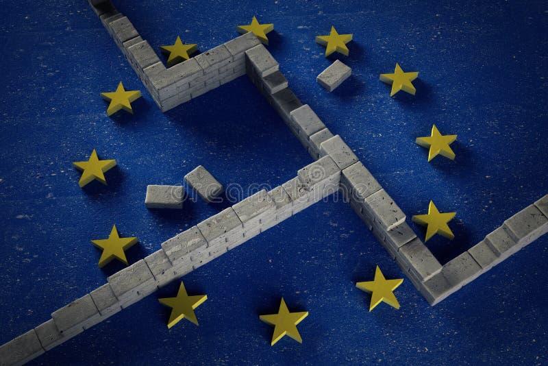 Europeisk vägg arkivbilder