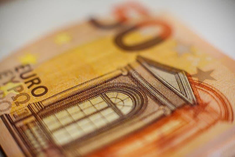 Europeisk valuta, anmärkning av 50 euro royaltyfria foton
