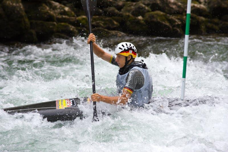 europeisk yngre slalom u23 för kanotmästerskap arkivbild