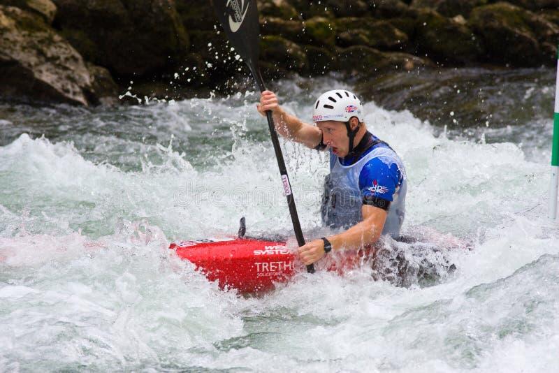 europeisk yngre slalom u23 för kanotmästerskap arkivfoto