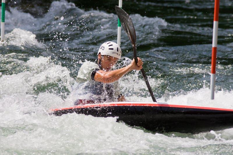 europeisk yngre slalom u23 för kanotmästerskap royaltyfri fotografi