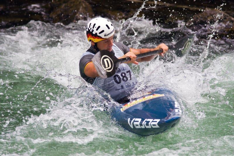 europeisk yngre slalom u23 för kanotmästerskap royaltyfria foton