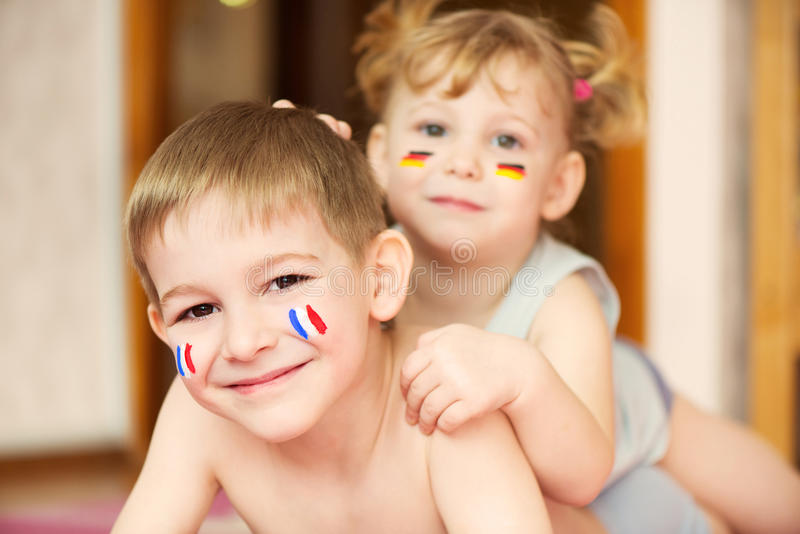 Europeiska barn arkivfoto