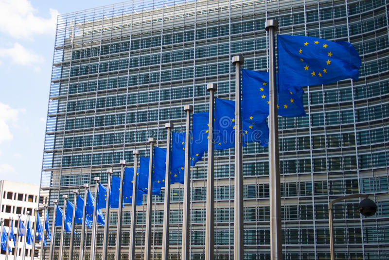 europeiska flaggor arkivbilder