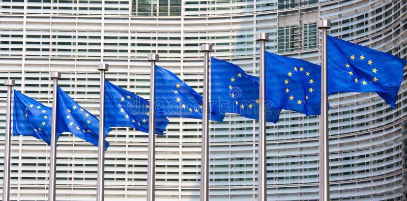 europeiska flaggor royaltyfri fotografi