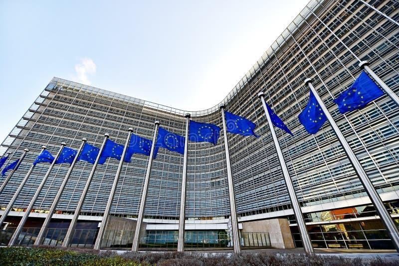 Europeiska kommissionenhögkvarter fotografering för bildbyråer