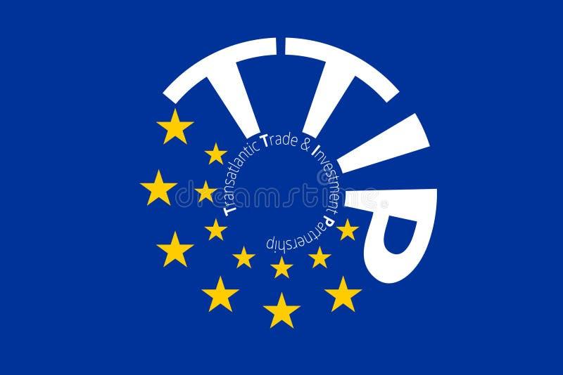 Europeiska original- flaggafärgdesigner stock illustrationer