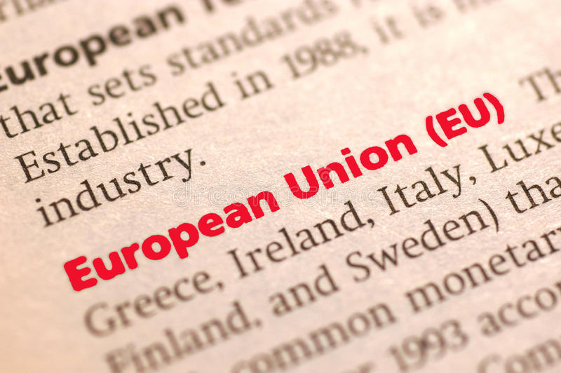 Europeiska union royaltyfria foton