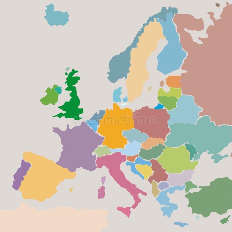 Europeiska union stock illustrationer