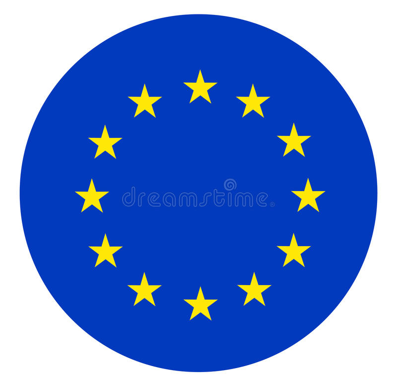 Europeiska union sjunker vektor illustrationer