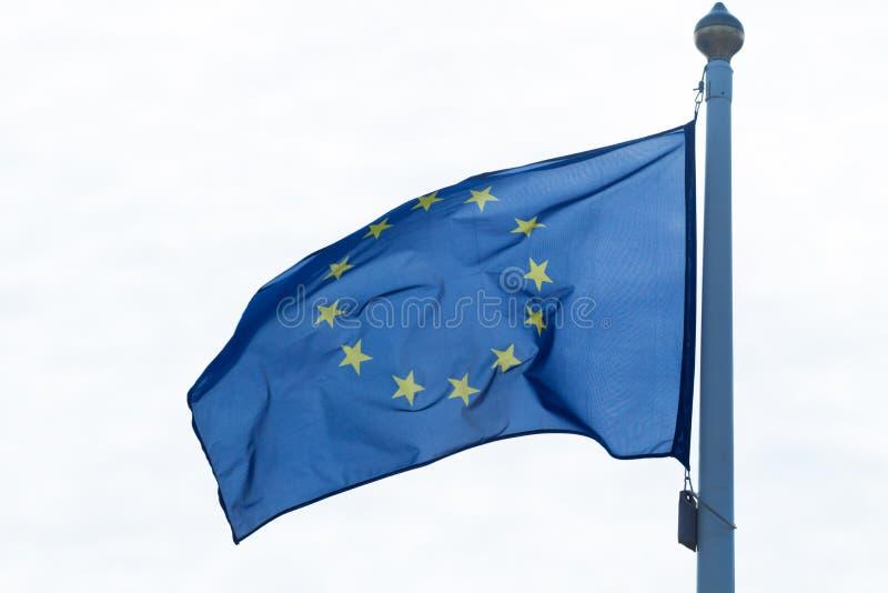 Europeiska unionens flagga arkivbild