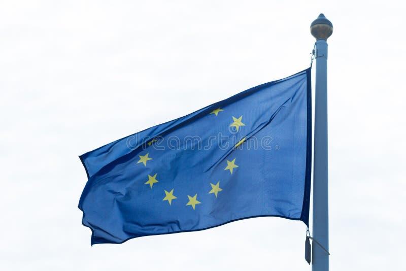 Europeiska unionens flagga royaltyfri bild