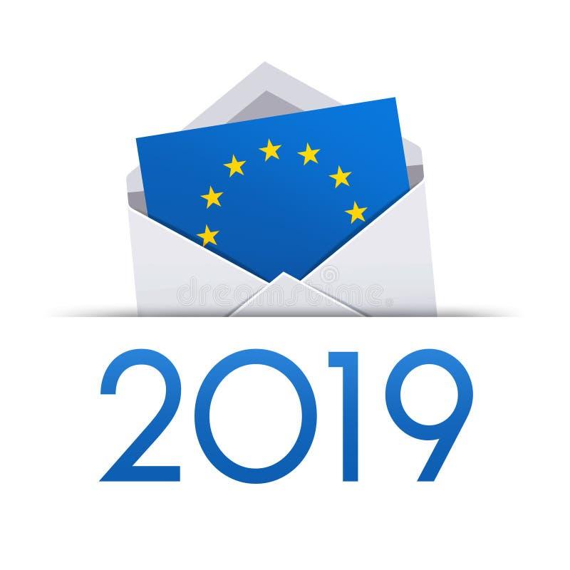 Europeiska val 2019 royaltyfri illustrationer