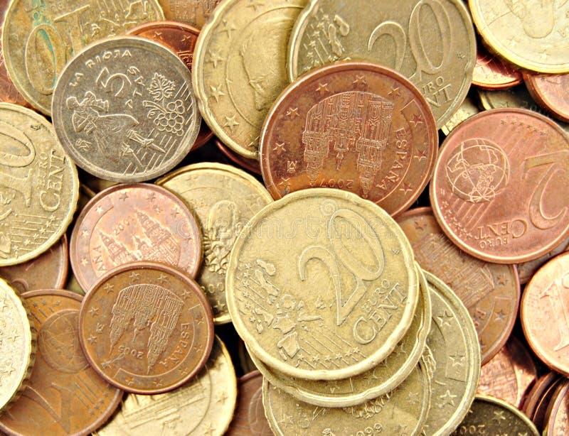 europeiska valutor royaltyfri fotografi