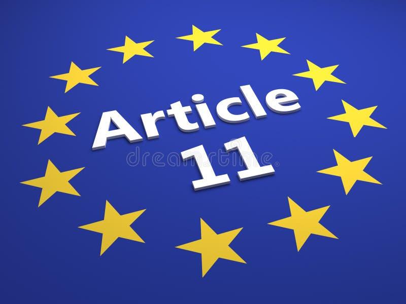 Europeiskt fackligt lagbeslut - illustration stock illustrationer