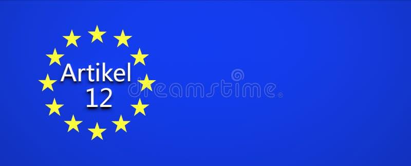 Europeiskt fackligt lagbeslut - illustration royaltyfri illustrationer