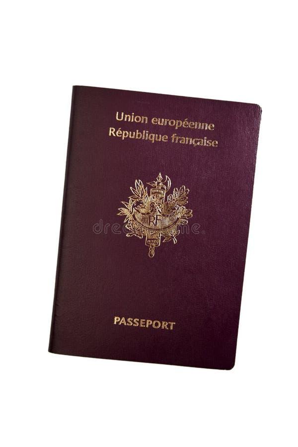 europeiskt franskt pass royaltyfria bilder