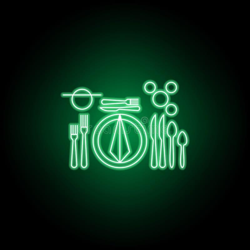 Europeiskt tabelletikettsymbol Kan anv?ndas f?r reng?ringsduken, logoen, den mobila appen, UI, UX royaltyfri illustrationer