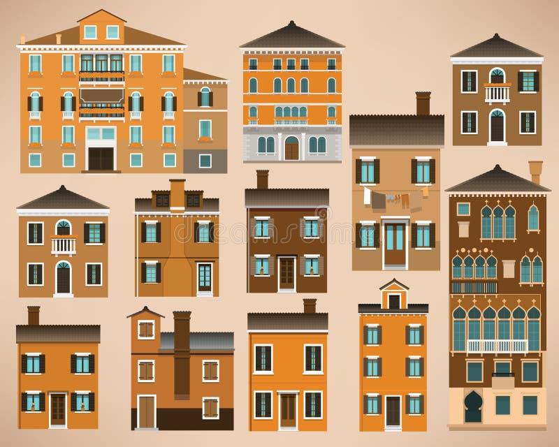 Europejczyków domy (Włochy) ilustracja wektor