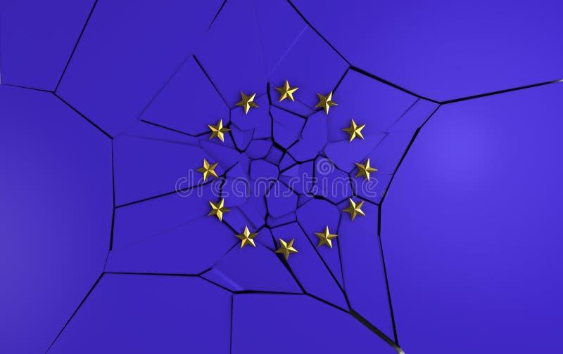europejczyk łamana flaga ilustracja wektor