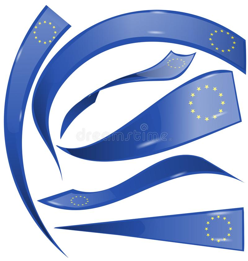 Europejczyk flaga set ilustracji