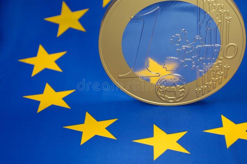 europejczyk mennicza euro flaga obraz royalty free