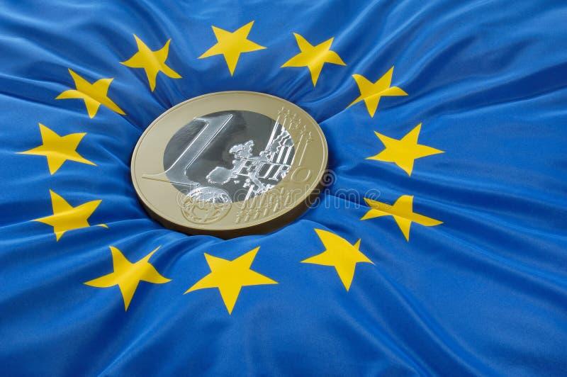 europejczyk mennicza euro flaga obrazy stock