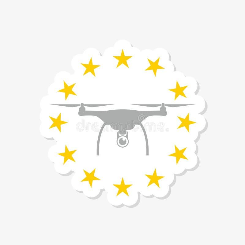 Europejczyk reguły dla trutnia samolotu powietrznego prawa ilustracji