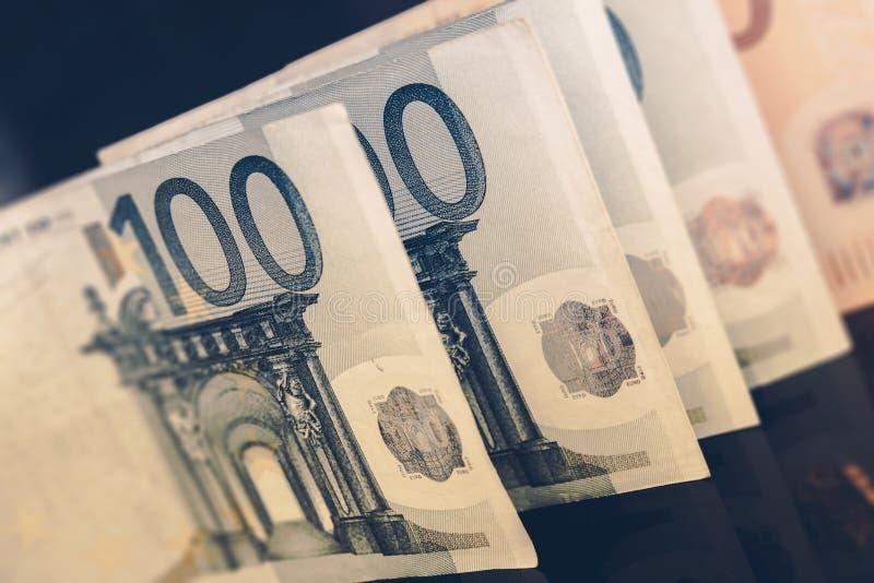 Europejscy Euro waluta rachunki fotografia royalty free