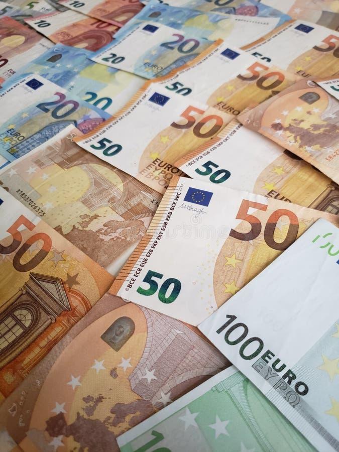 europejscy rachunki różni wyznania, tło i tekstura, obraz royalty free