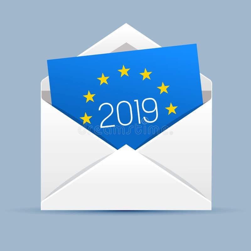 Europejscy wybory 2019 royalty ilustracja