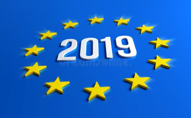 Europejscy wybory 2019 ilustracja wektor