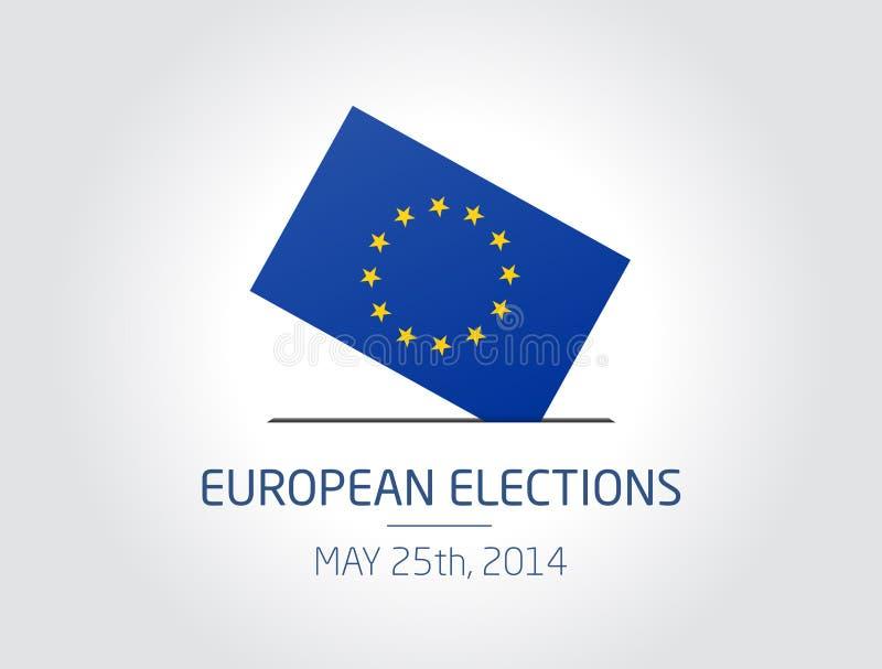 Europejscy wybory royalty ilustracja