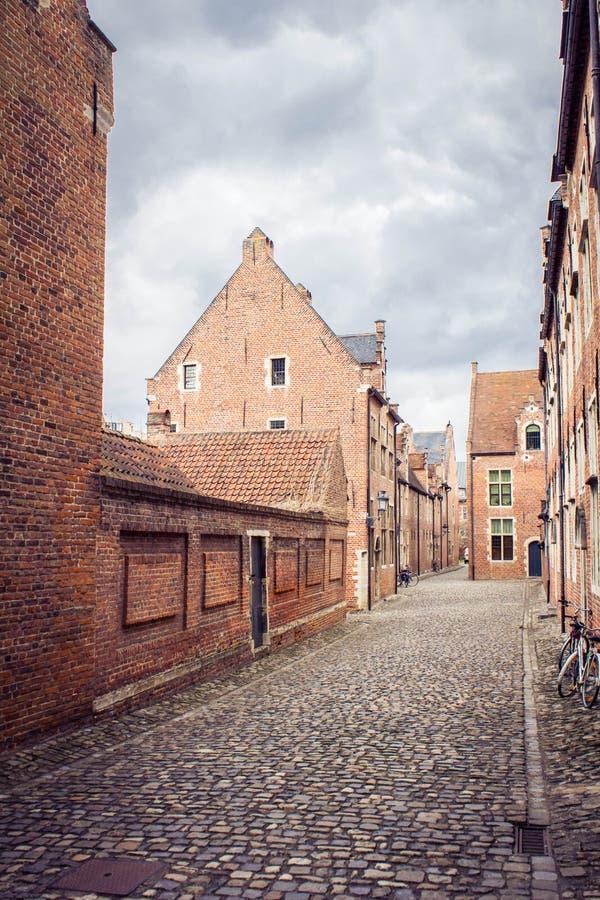 Europejska średniowieczna ulica obraz royalty free