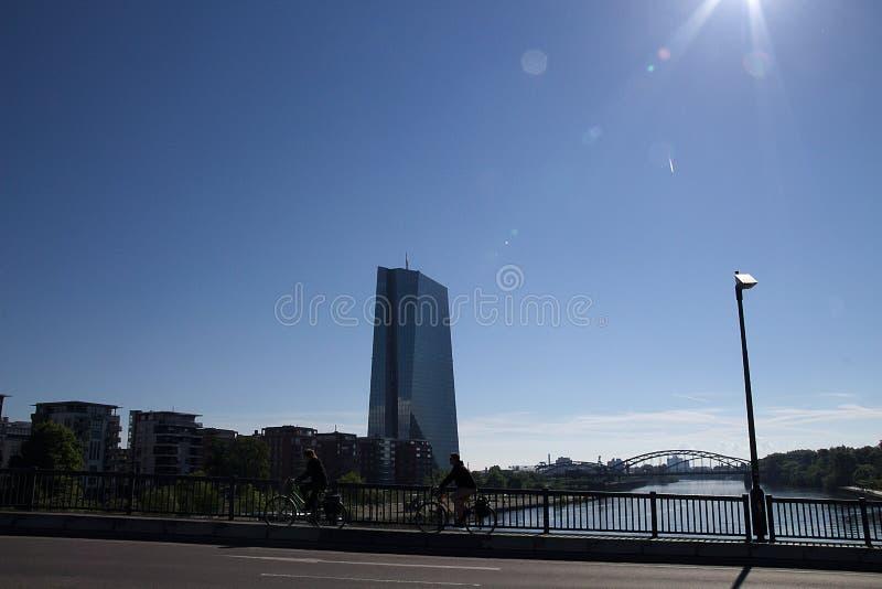 Europejska centrala w Frankfurt na magistrali Germany -2 zdjęcie royalty free
