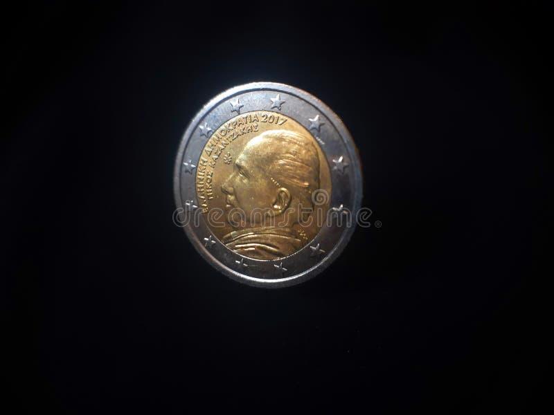 Europejska euro moneta obrazy stock