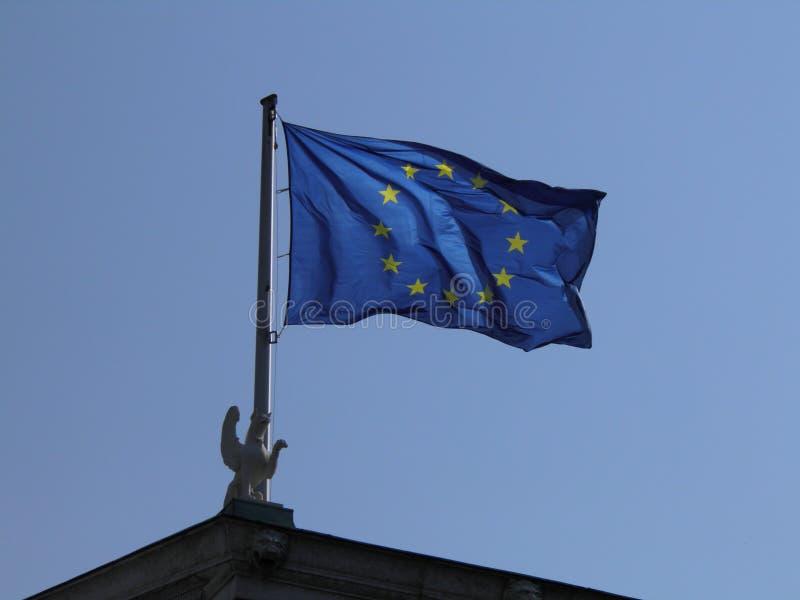 europejska flaga europejskim zdjęcie royalty free