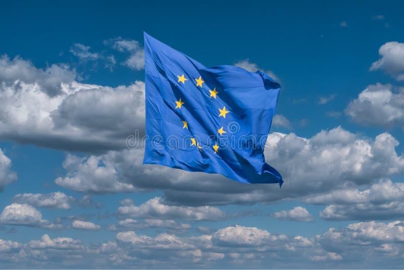europejska flaga europejskim fotografia stock