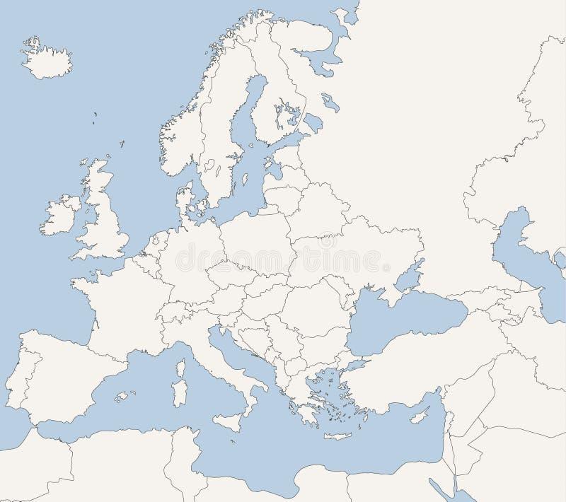 europejska kraj mapa ilustracji