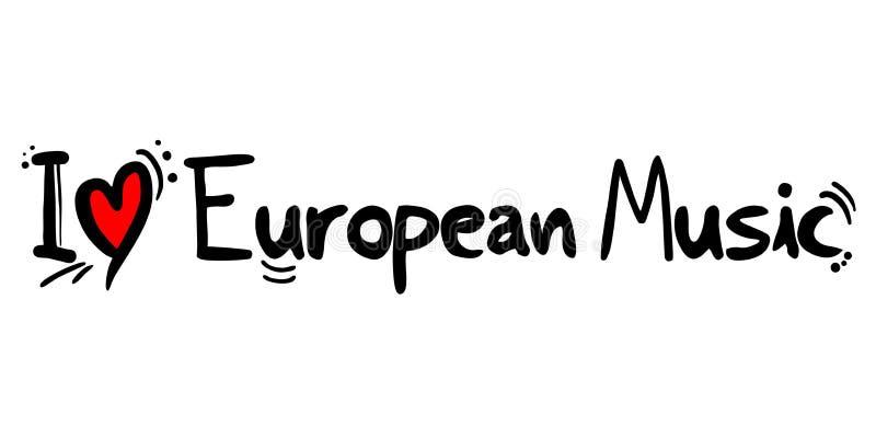 Europejska muzyka stylu miłość ilustracji