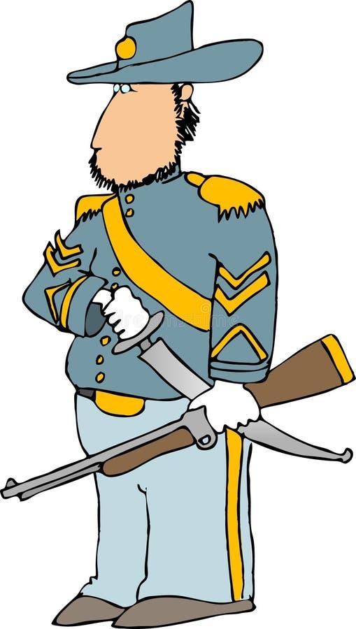 europejska oficer kawalerii ilustracja wektor