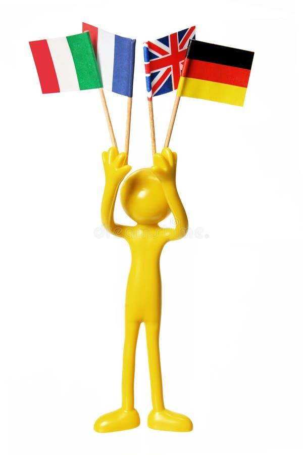 europejska postać flaga fotografia royalty free