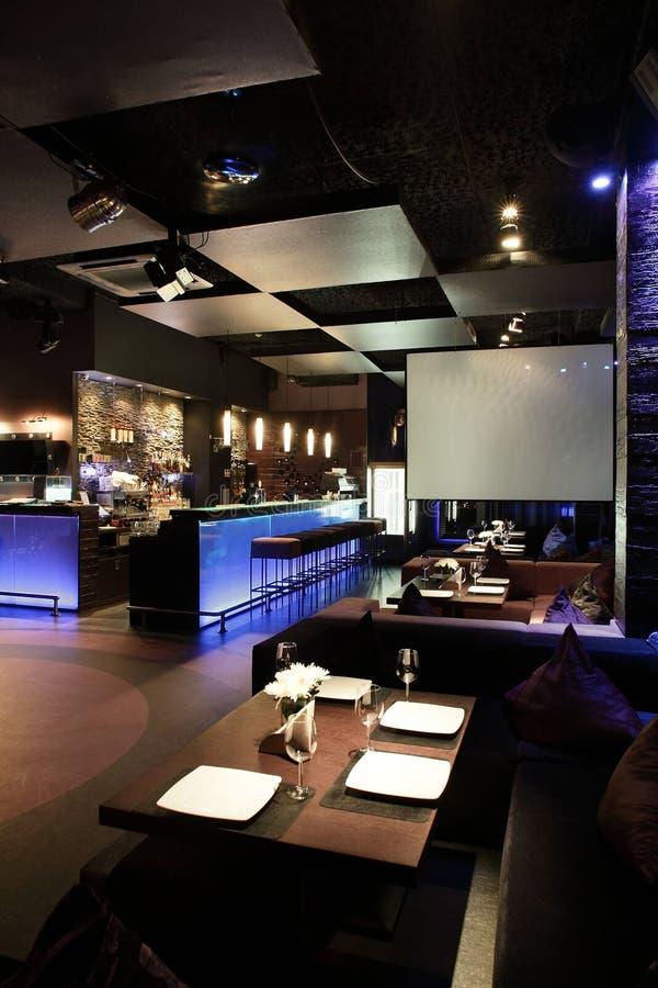 Europejska restauracja w jaskrawych kolorach fotografia stock