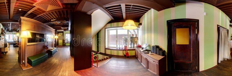 Europejska restauracja w jaskrawych kolorach zdjęcia stock
